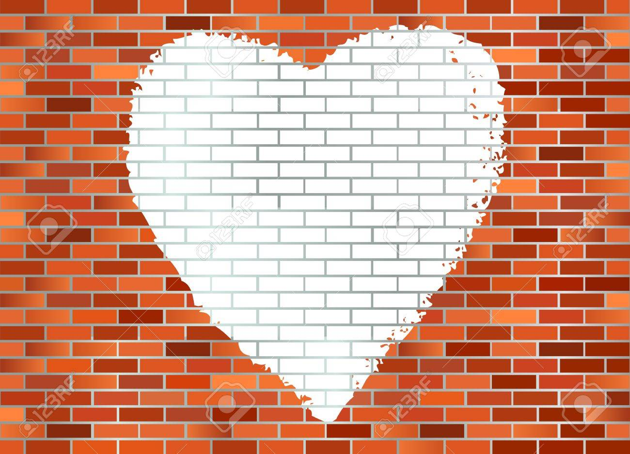 Grafiti wall red - Graffiti On Wall A White Hart Spray Painted On Red Brick Wall Stock Vector
