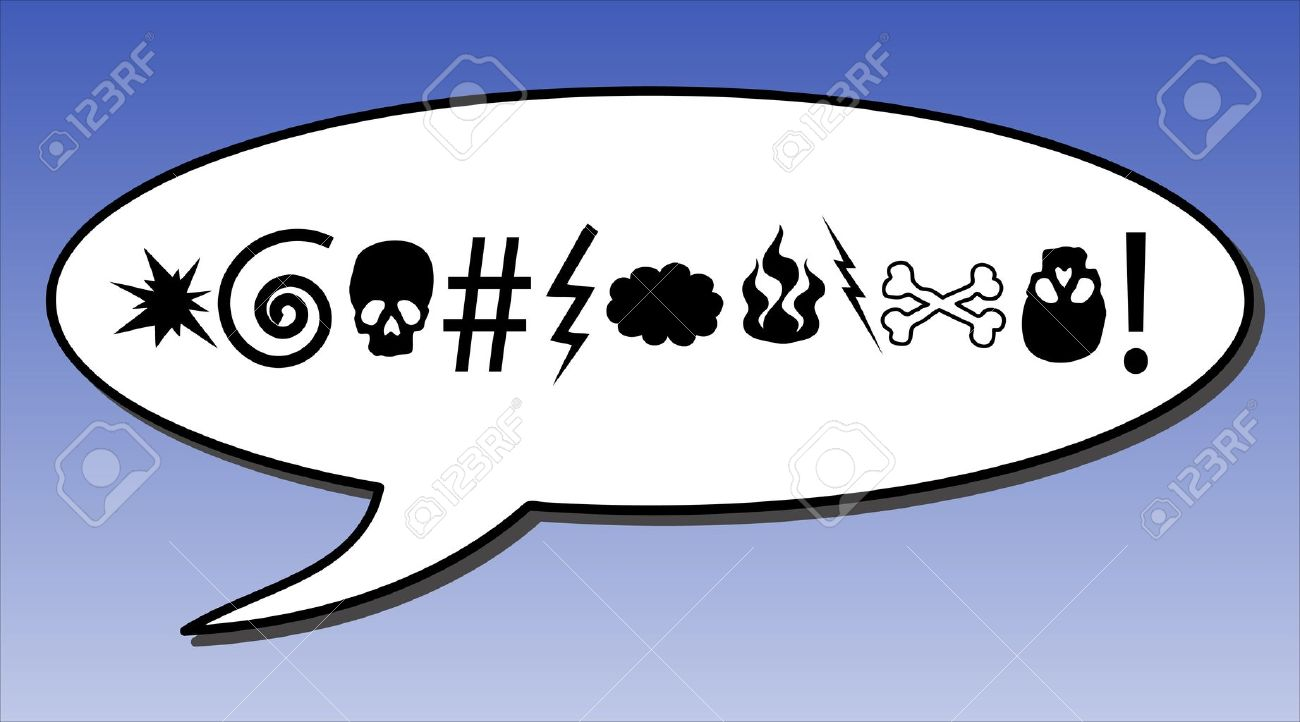 Comic Swear Word In A Speech Bubble Stock Vector