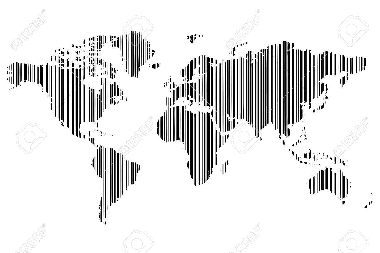 World map as bar code royalty free cliparts vectors and stock vector world map as bar code gumiabroncs Image collections