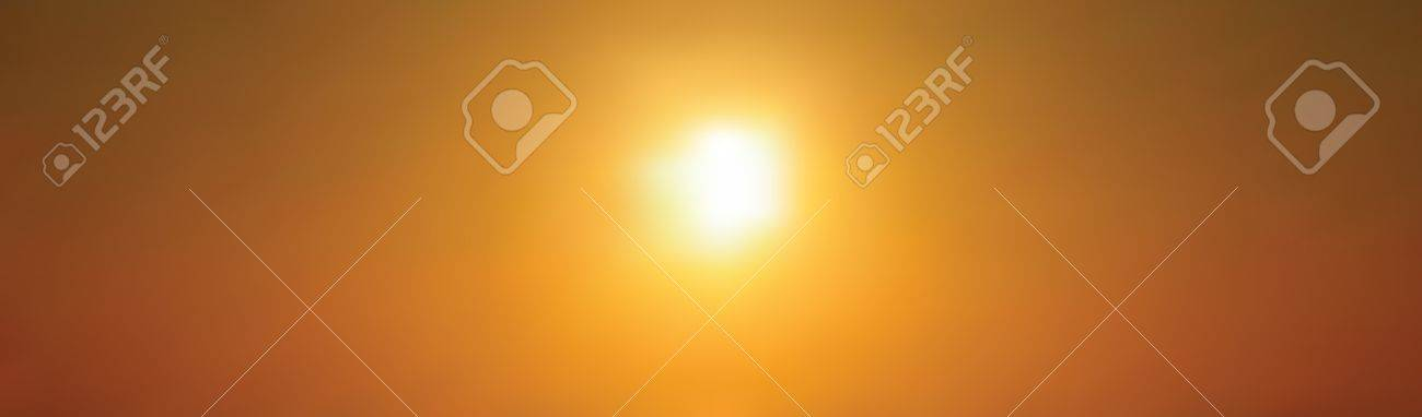 Setting sun against golden sky, beautiful background Stock Vector - 10785012