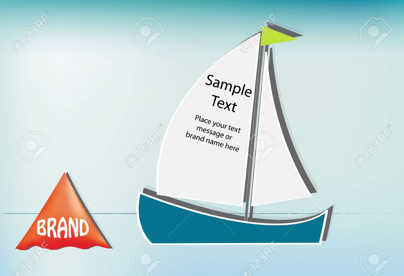 Sailboat and race buoy, place your text on the sail Stock Vector - 12937399