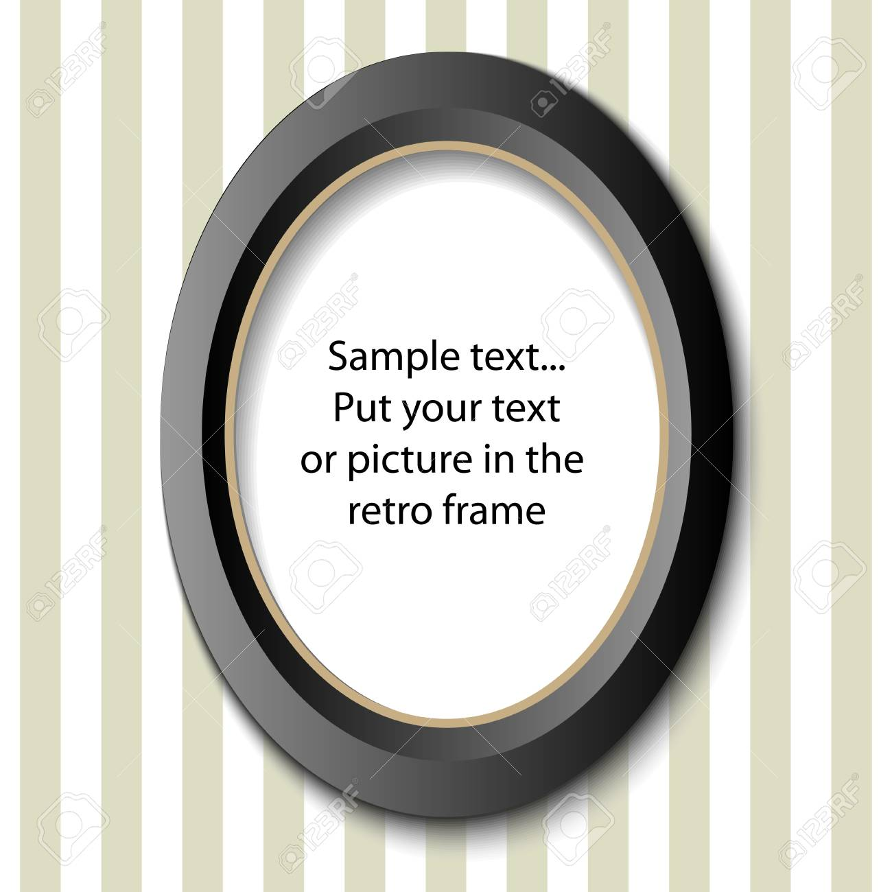 Picture frame in retro design - for your text or image Stock Vector - 13628734