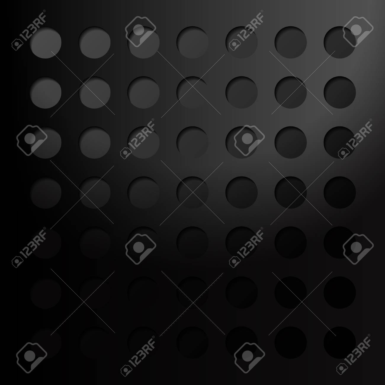 Abstract eps10 vector background, black metal style 3D Stock Vector - 15450348