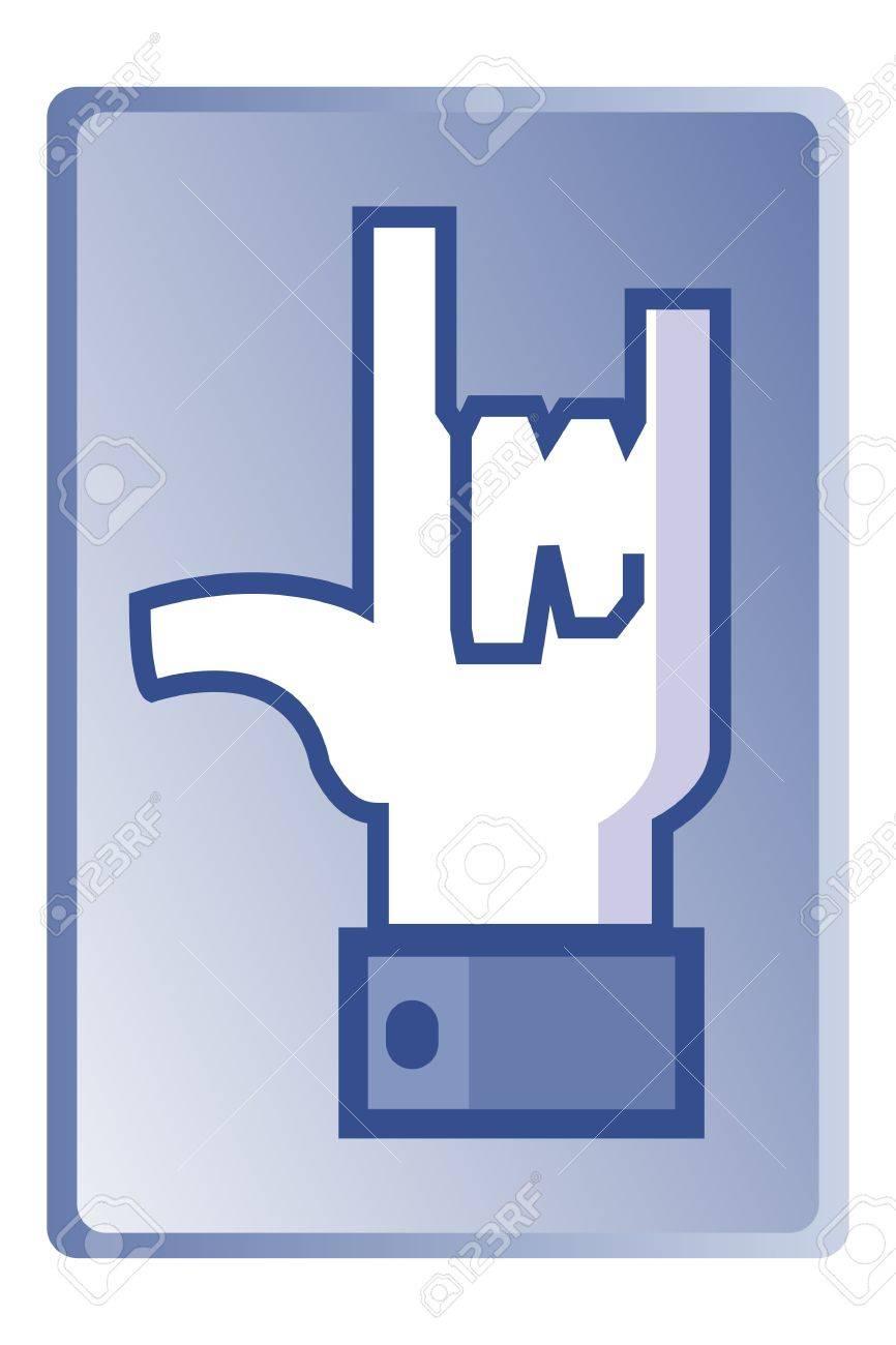 Love sign, universal hand symbol, vector Stock Vector - 15982930