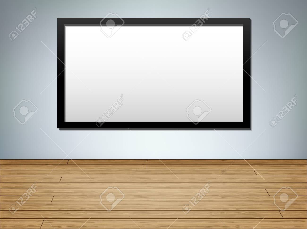 Frame in studio, interior background, eps10 vector illustration with copy space Stock Vector - 16418414