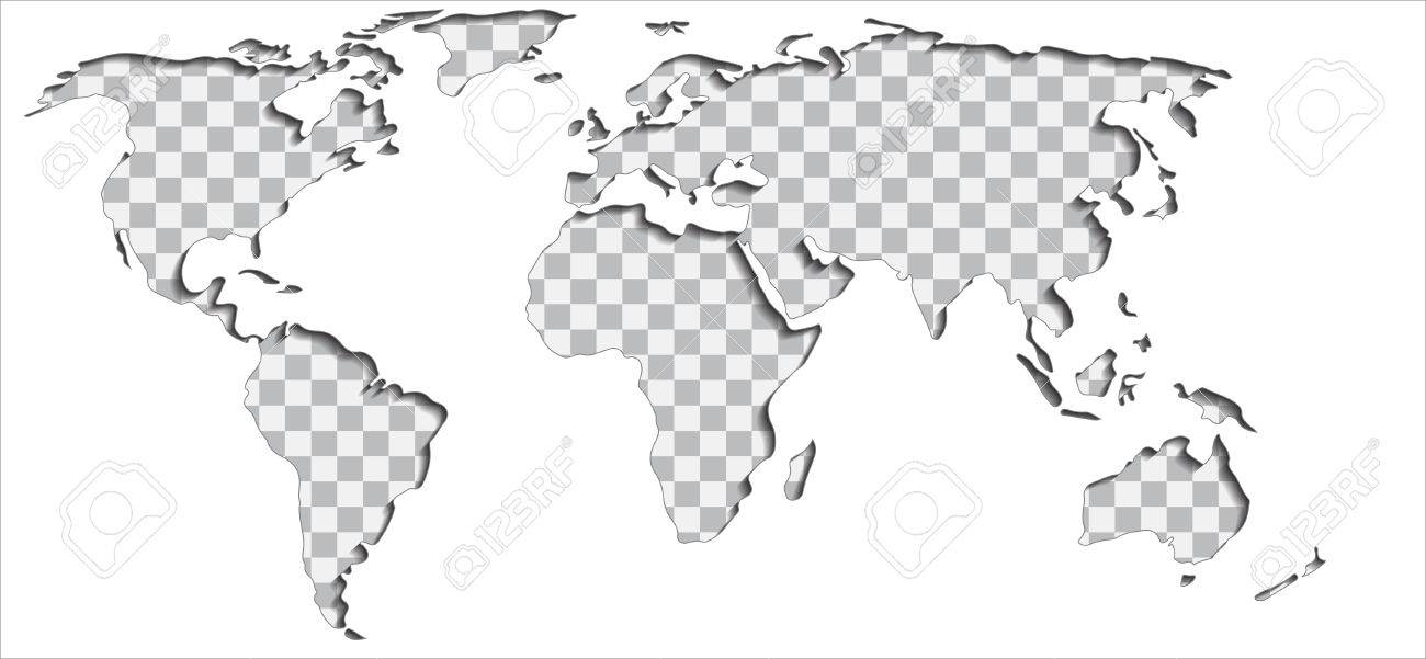 Put your text or picture behind the cut out world map vector put your text or picture behind the cut out world map vector illustration stock vector gumiabroncs Images