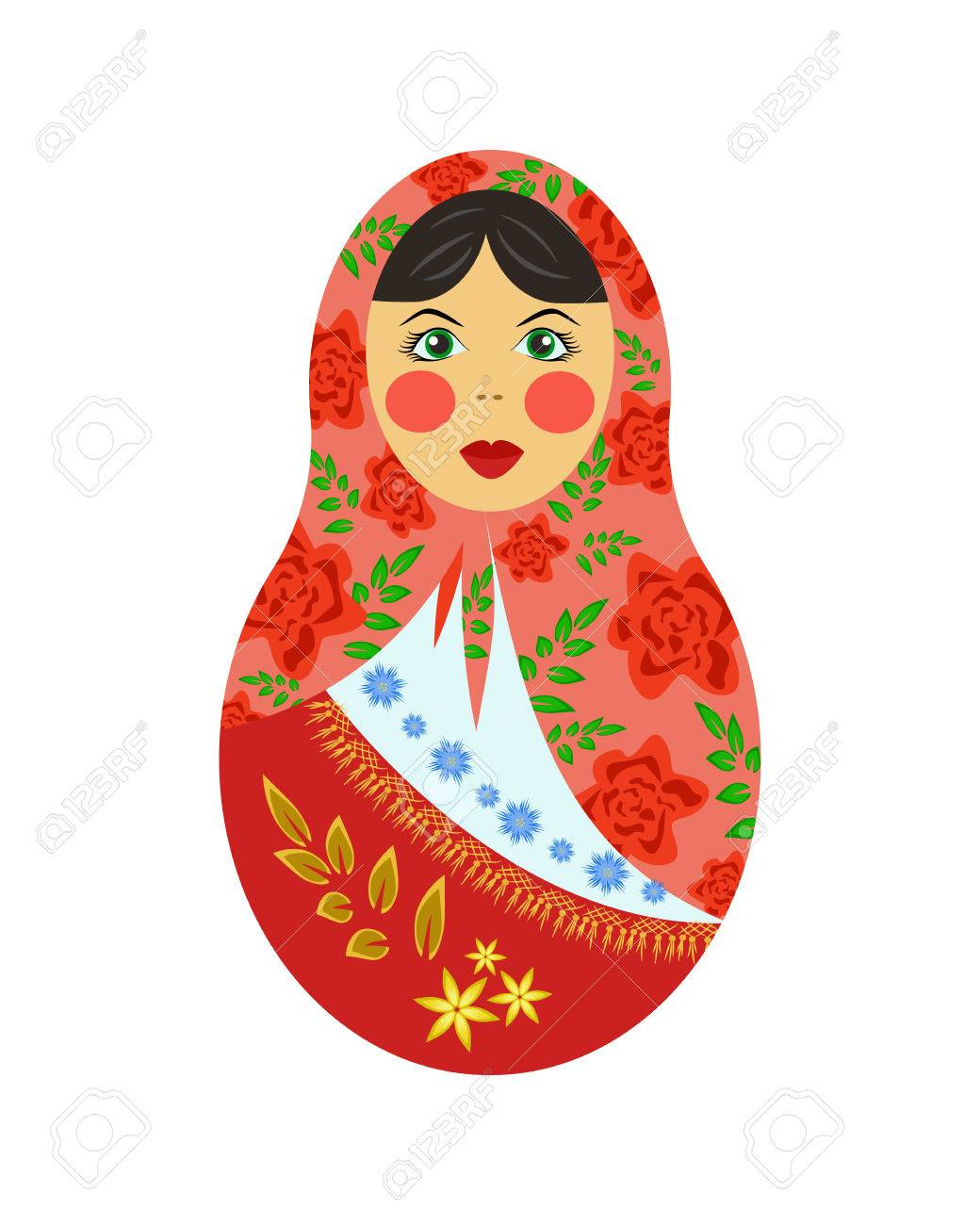 ロシアの入れ子人形タンブラー木製カラフルな入れ子ピンロシア人