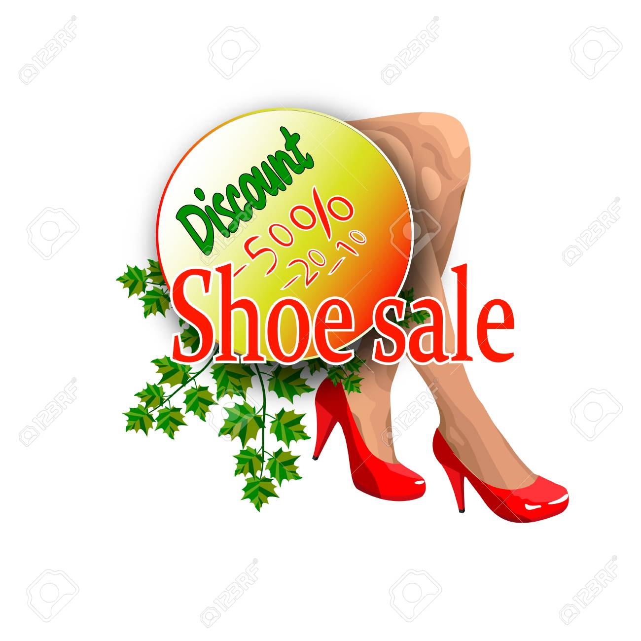 Banner For Sales Of A Shoe Store