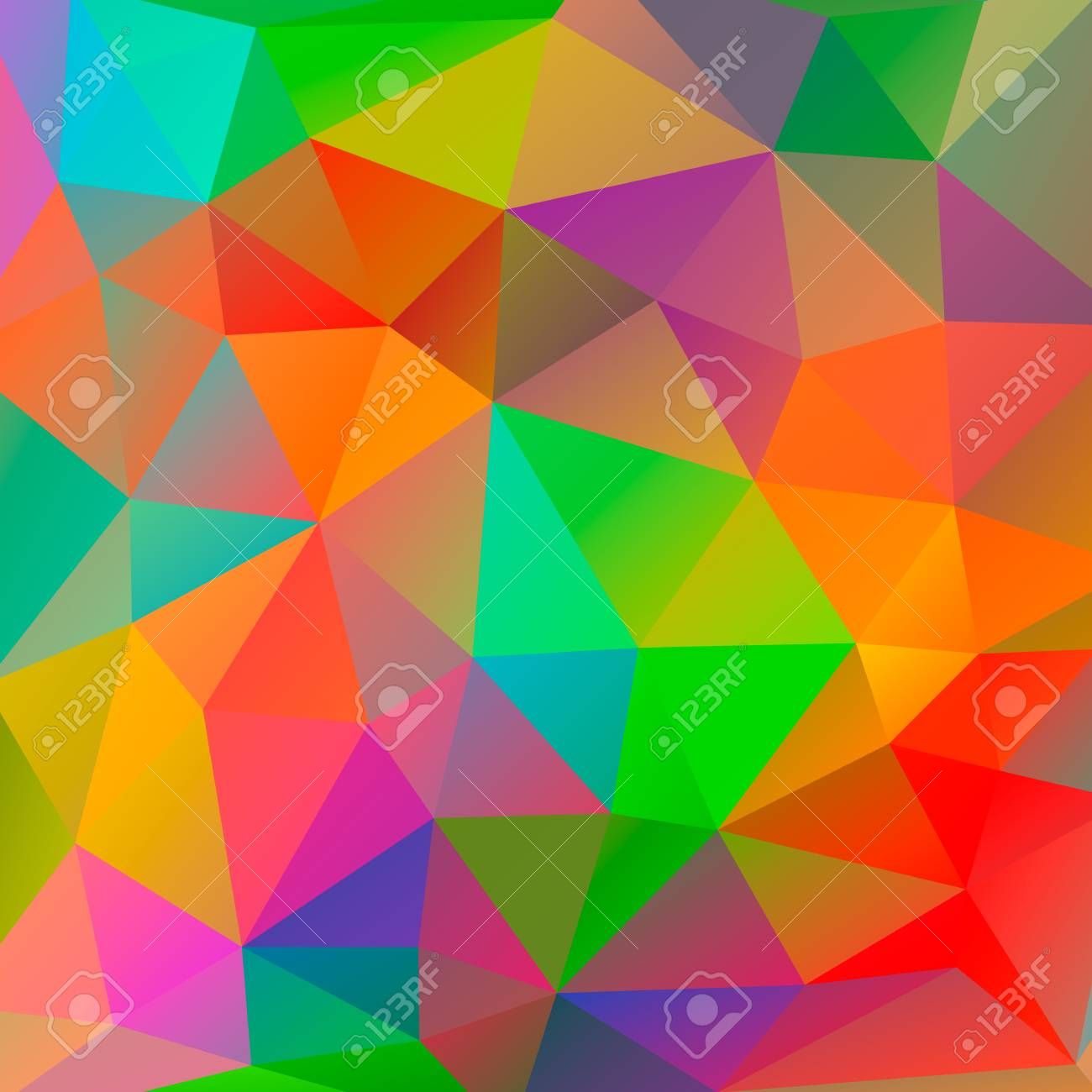 colored polygon background, bright pattern of triangles, polygons,