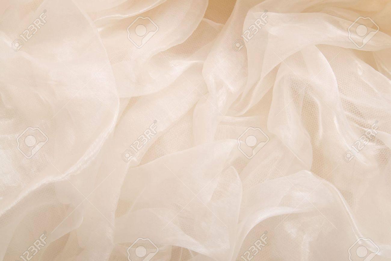 Horizontal texture from a light transparent fabric Stock Photo - 7339993