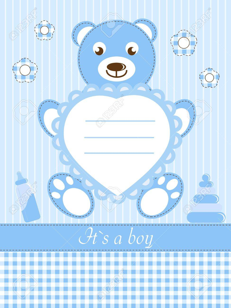 Baby Boy Shower Invitation Card Royalty Free Cliparts Vectors – Baby Shower Invitation Cards for Boys