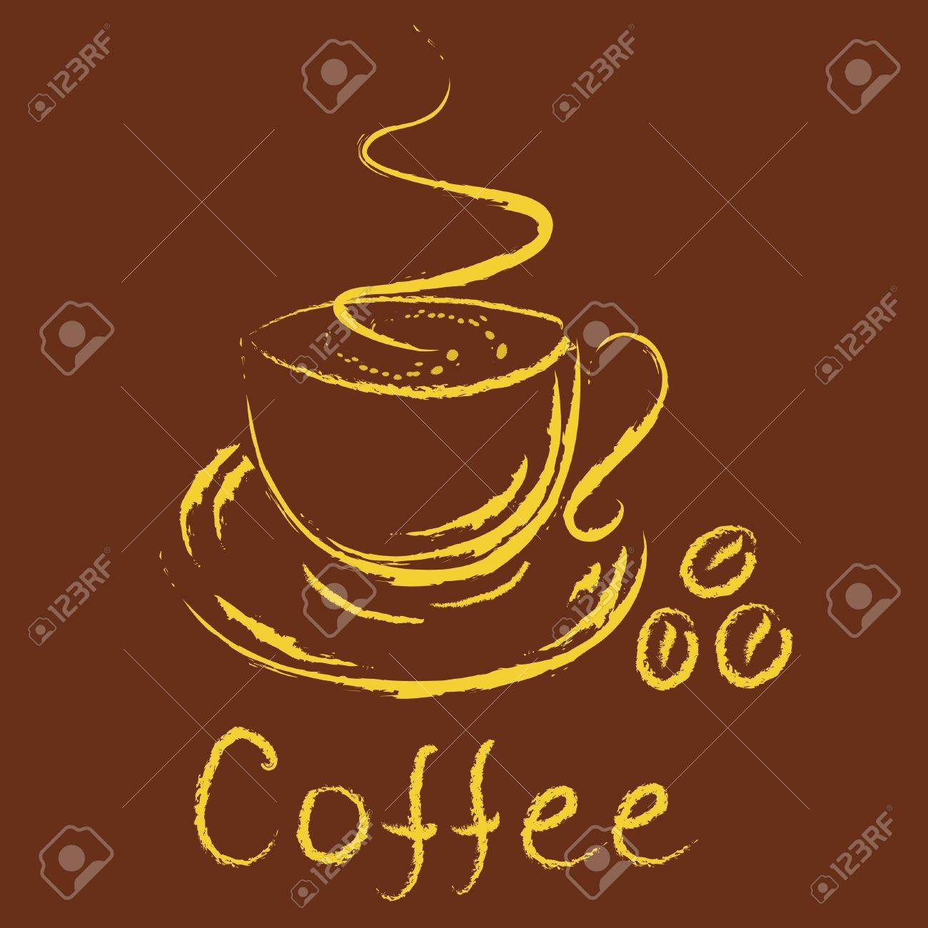 Logo - cup of coffee Stock Vector - 10555833