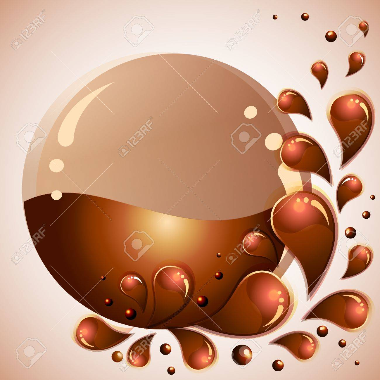 Chocolate background Stock Vector - 10555917