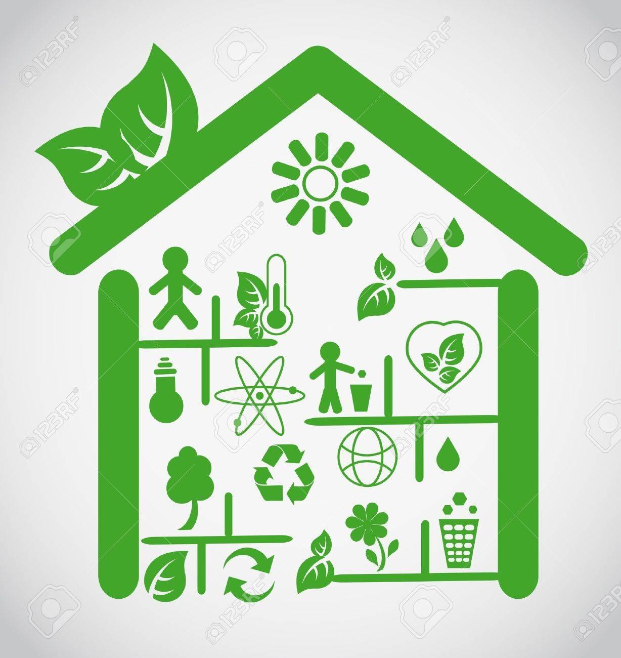 Ecological house Stock Vector - 10555582