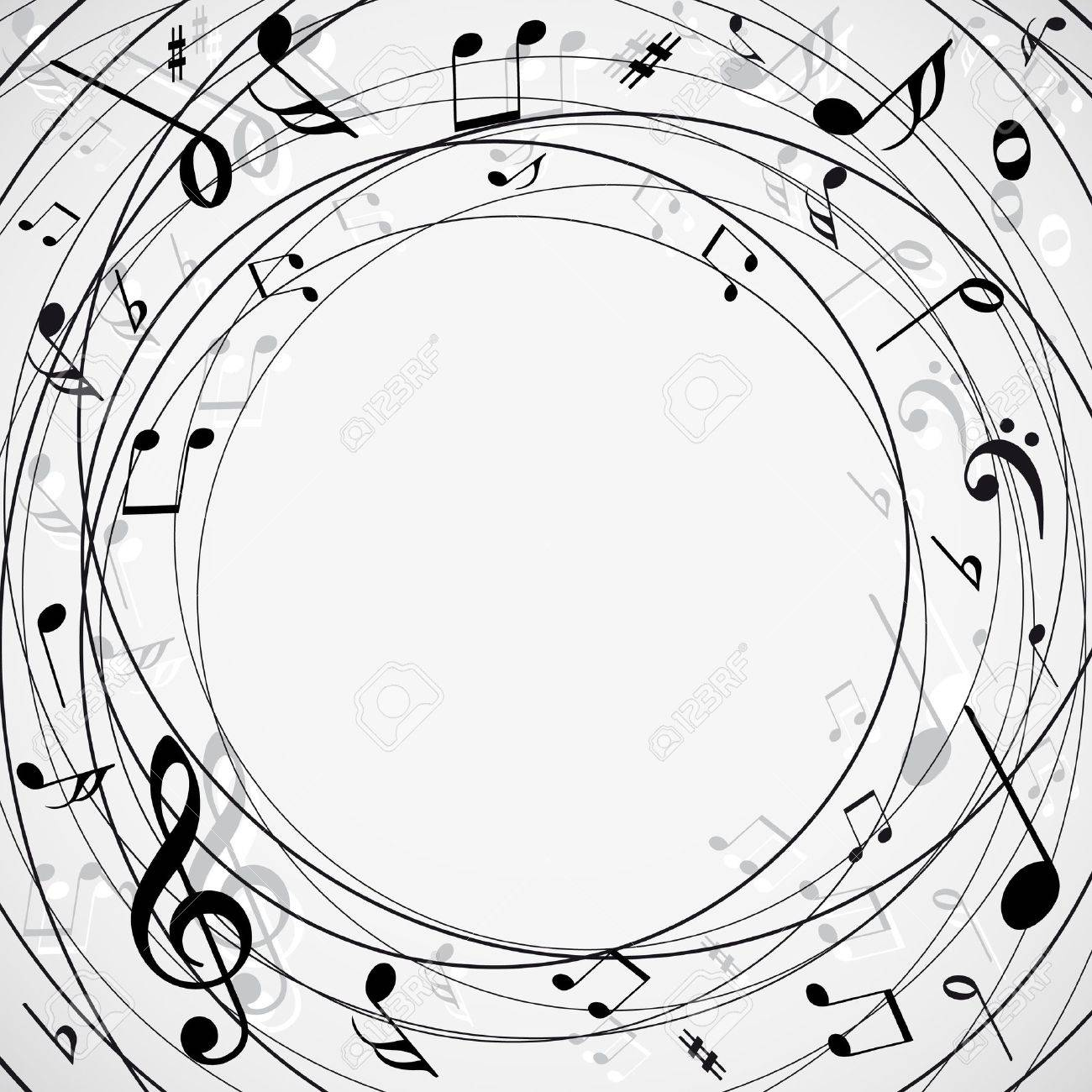 Musical notes staff background on white vector by tassel78 image - Musical Note Musical Notes Background