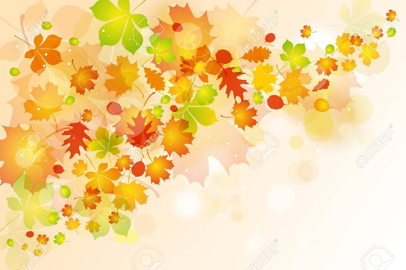 Autumn leaves background Stock Vector - 10703572