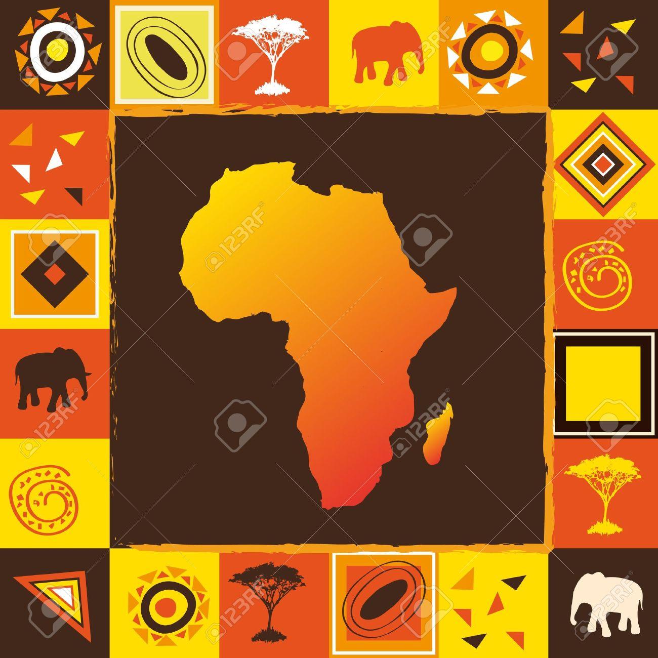 African background Stock Vector - 10908028