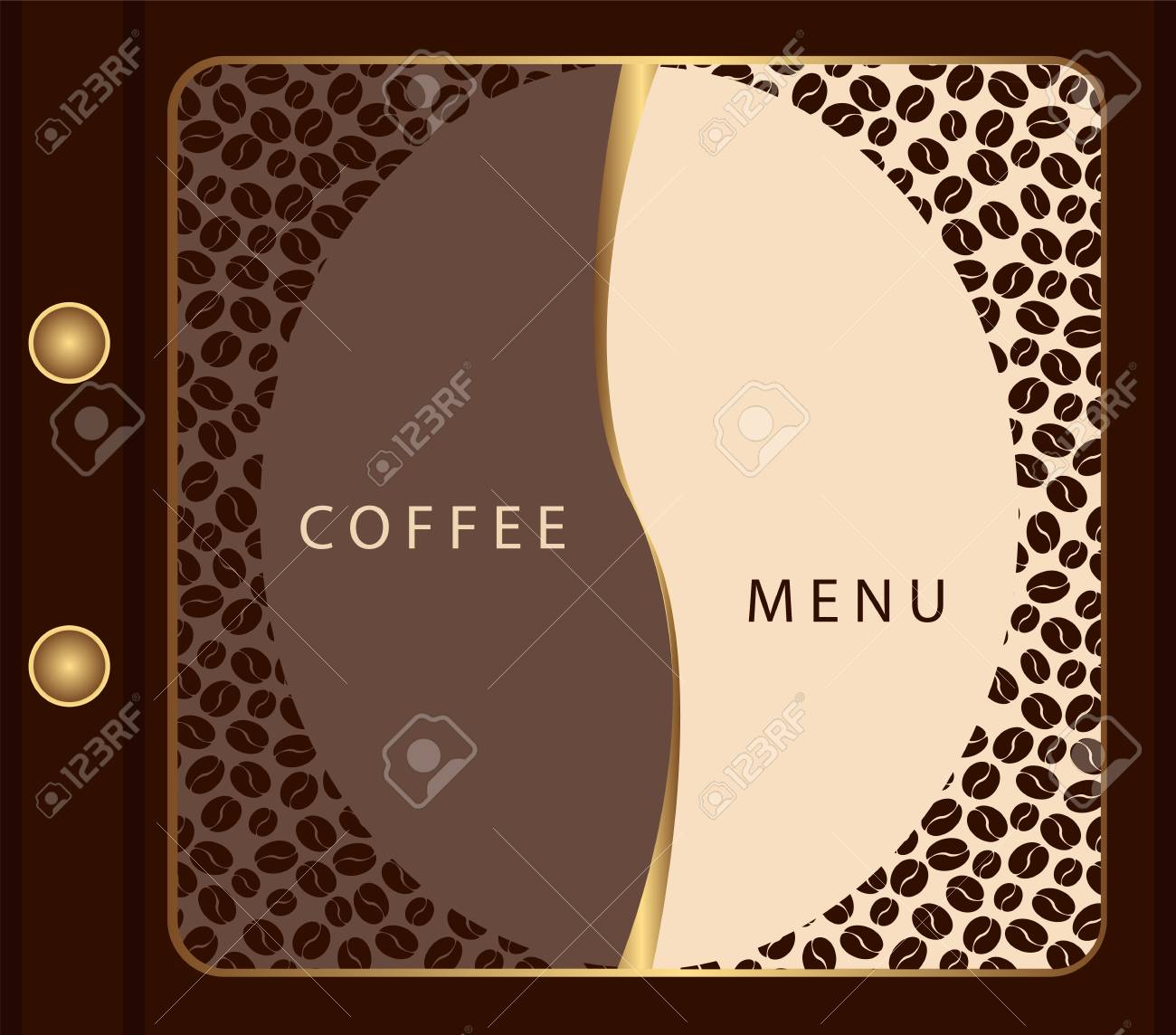 Coffee menu template Stock Vector - 11483673