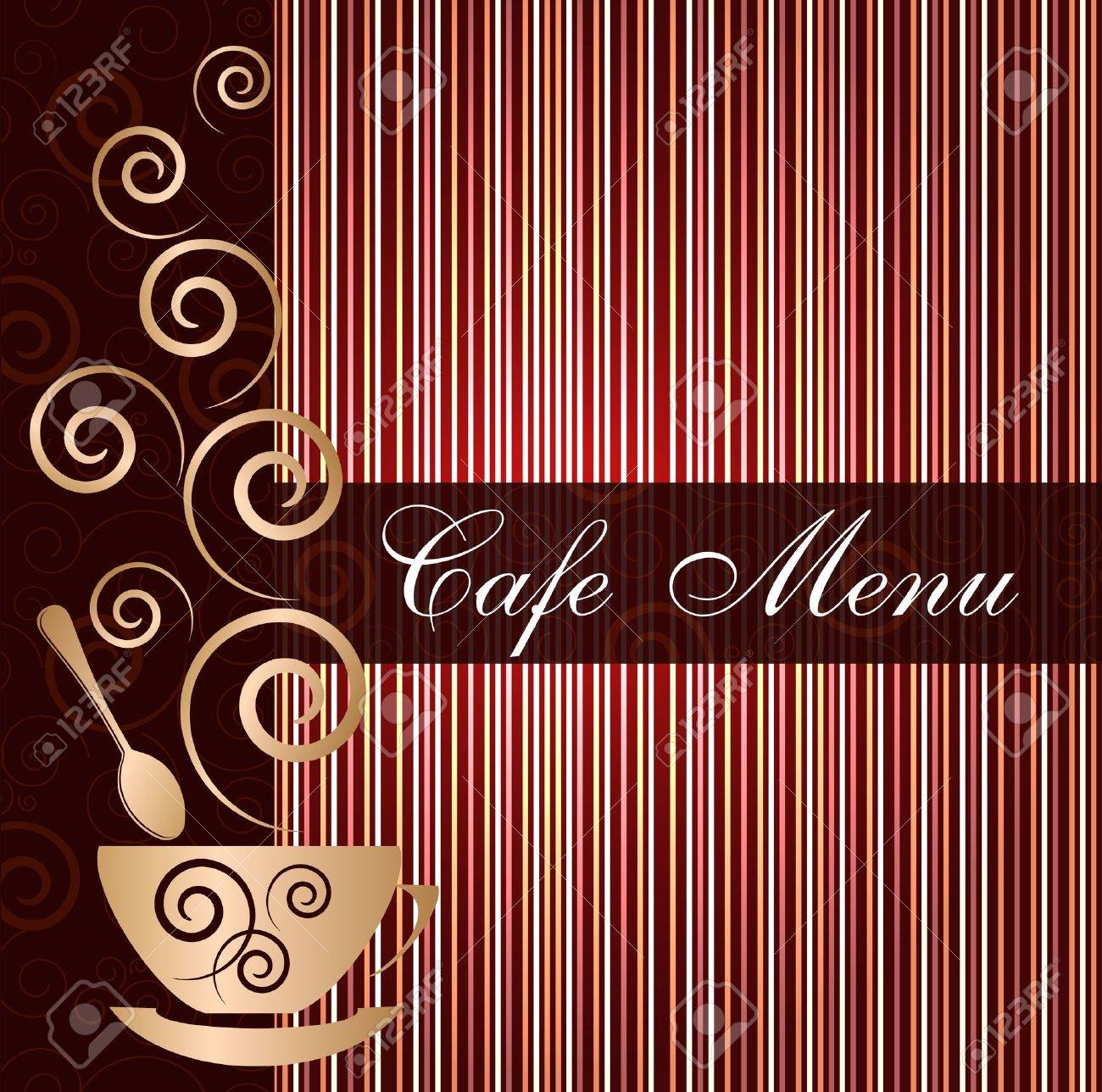 Template of a cafe menu Stock Vector - 12485922