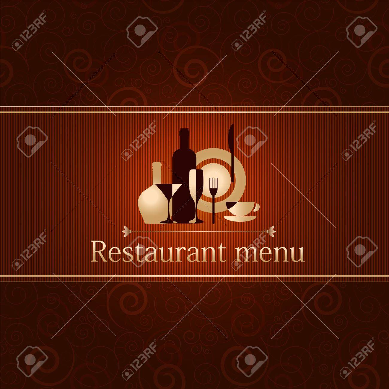 luxury template for a restaurant menu royalty free cliparts