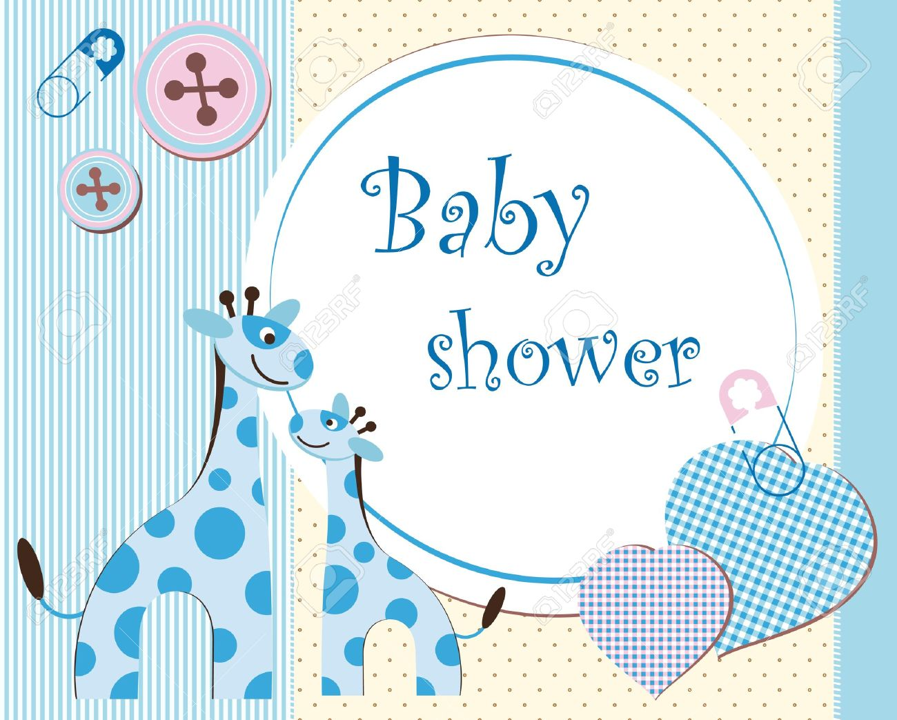 Baby shower - boy Stock Vector