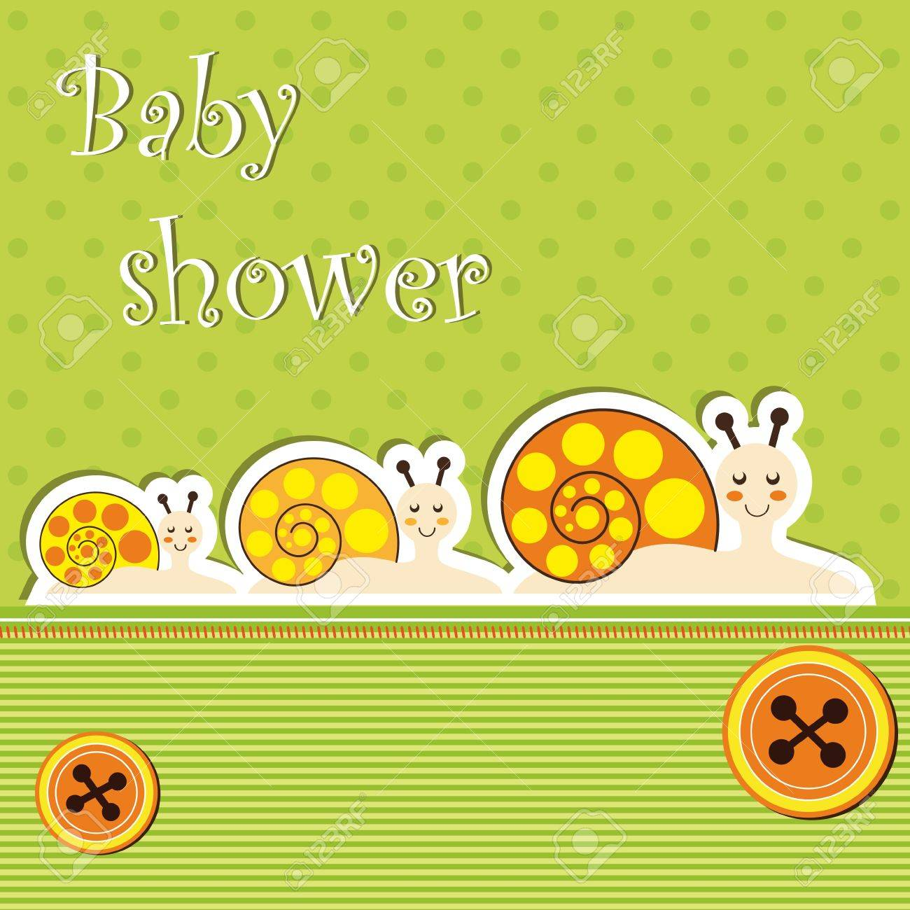 Baby shower card Stock Vector - 12485781