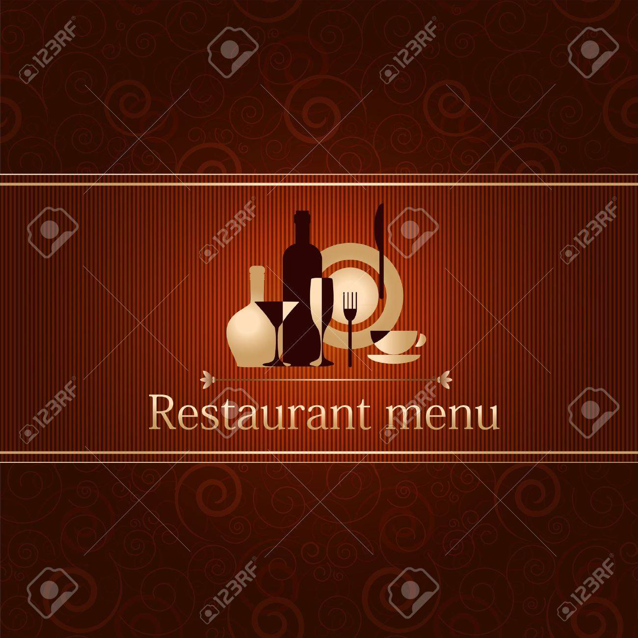 luxury template for a restaurant menu Stock Vector - 12485968