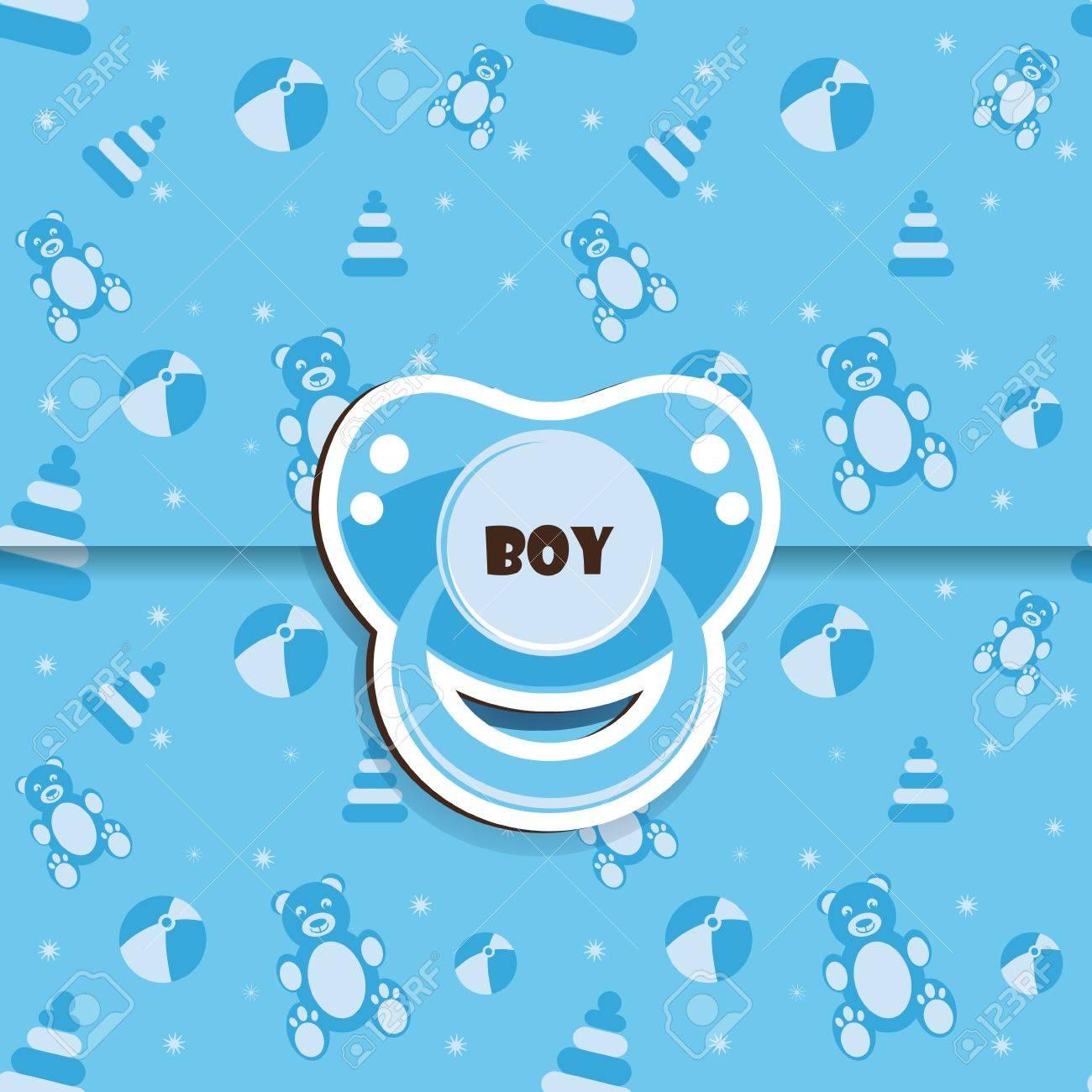 Baby shower - boy Standard-Bild - 12486107
