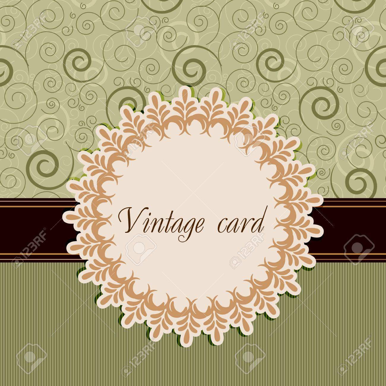 Vintage card Stock Vector - 12486116