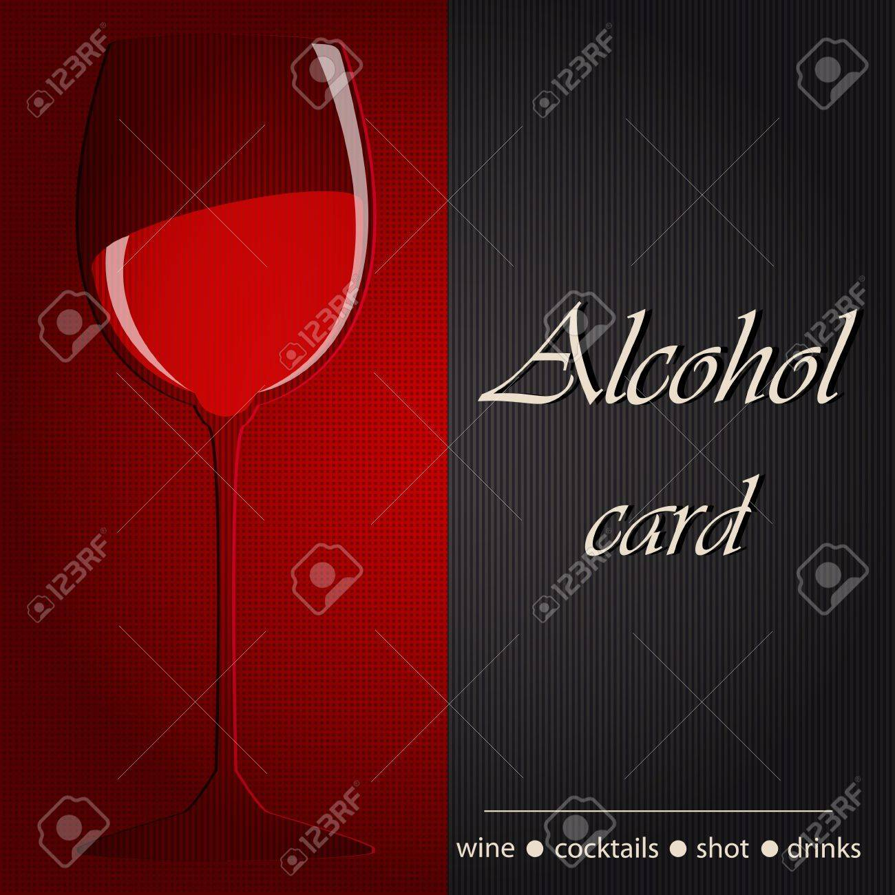 Template of an alcohol menu Stock Vector - 14024108