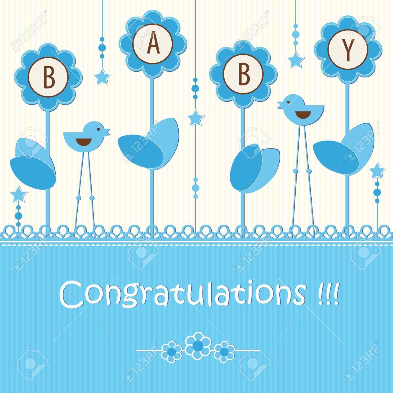 Baby shower - boy Stock Vector - 15309164