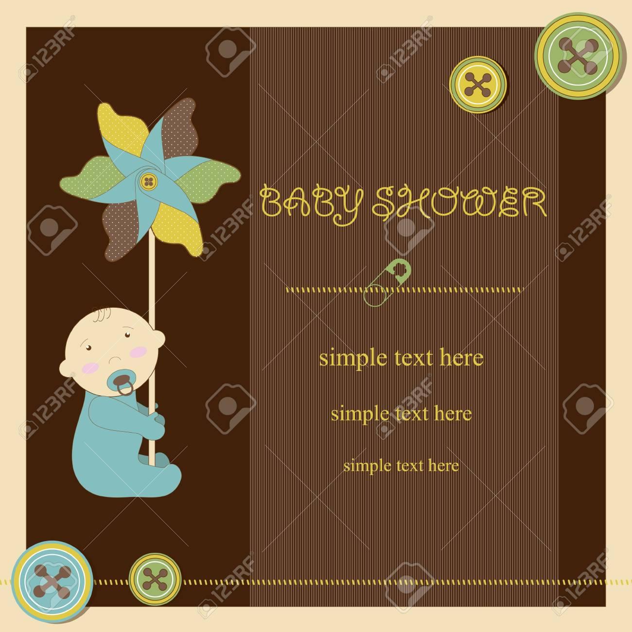 Baby shower - boy Stock Vector - 17553151