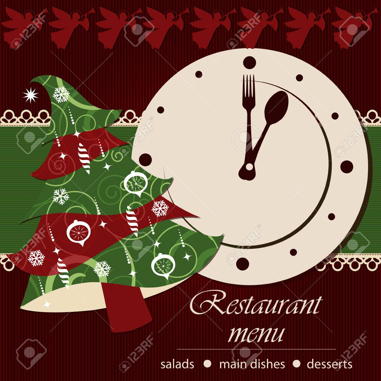 Template of a christmas menu Stock Vector - 22765540