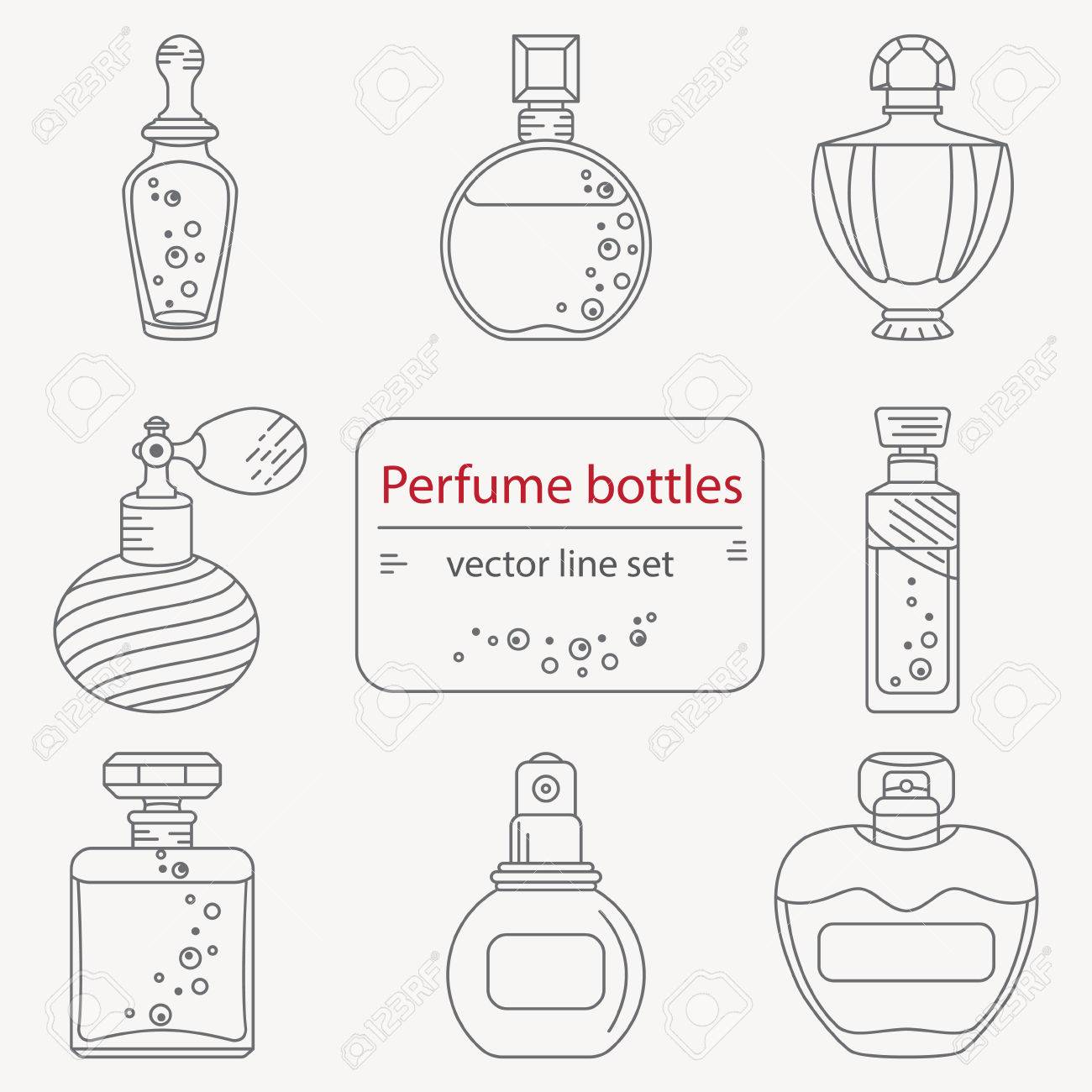 16763 perfume bottle stock illustrations cliparts and royalty free set of outline perfume bottle icons can use for design wrapping paper packaging scrap biocorpaavc Gallery