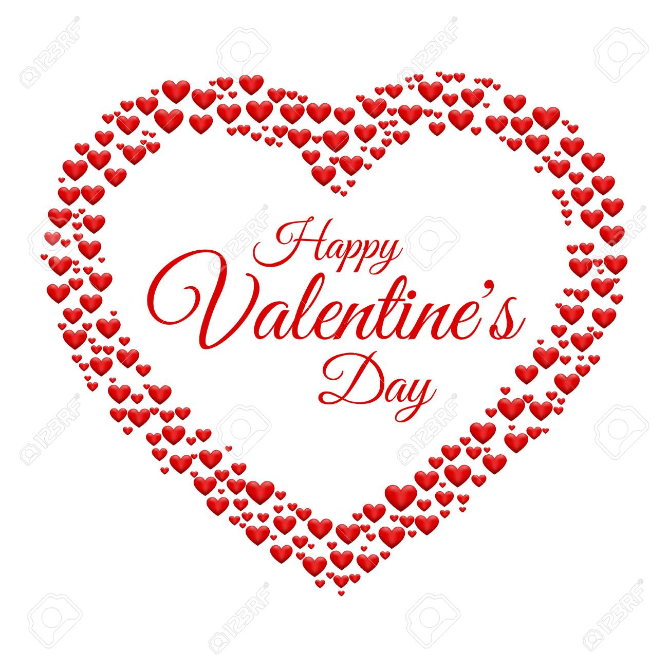 Hearts Frame Valentine\'s Day Vector Background Royalty Free Cliparts ...