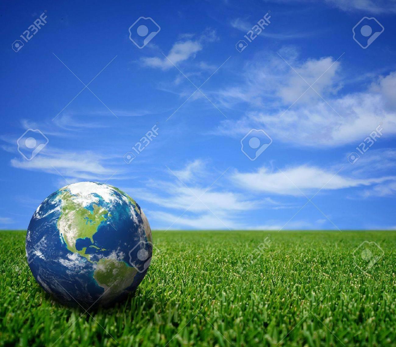Landscape with globe Stock Photo - 5856059