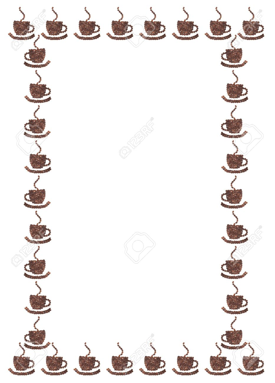 Beans Cup On Made Background White Of Coffee OkTXZuPi