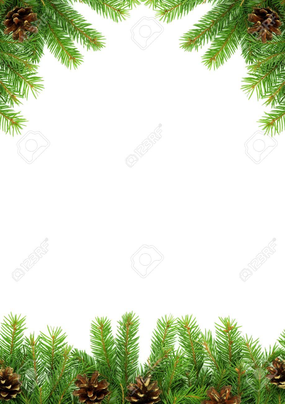 Christmas green  framework isolated on white background Stock Photo - 7527818