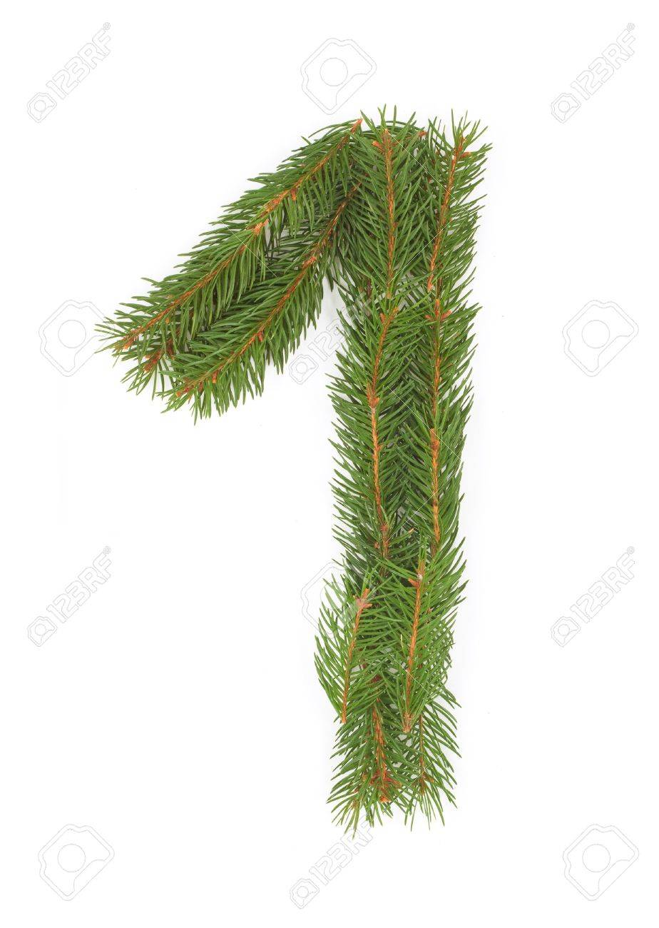 NUMBER 1 - Christmas tree decoration - part of a full set Stock Photo - 8029157