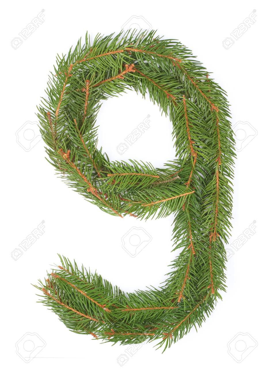 NUMBER 9 - Christmas tree decoration - part of a full set Stock Photo - 8029171