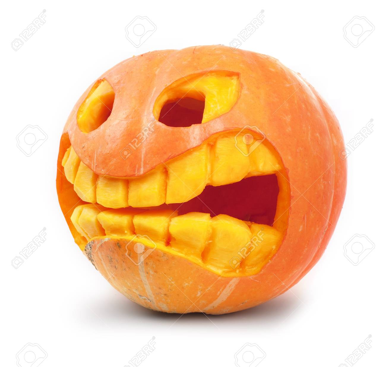 Halloween pumpkin isolated on a white background Stock Photo - 8056438