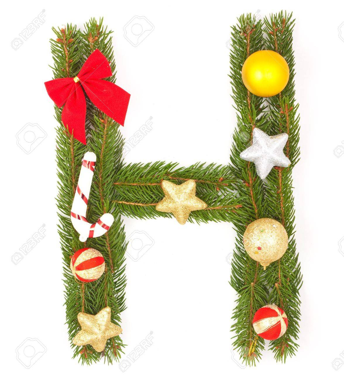 Christmas Alphabet. Part of full set isolated on a white background Stock Photo - 8251675