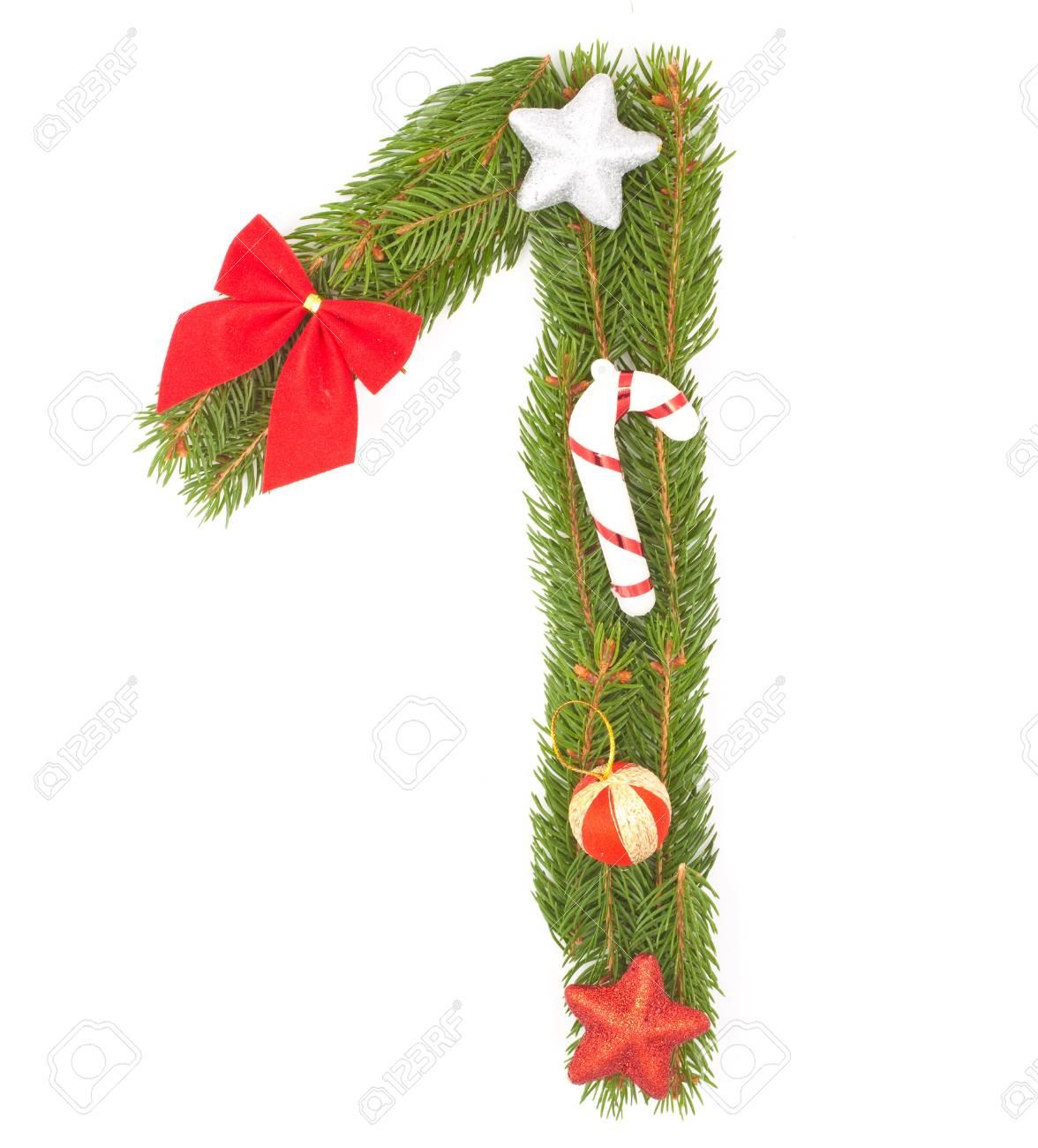 Christmas Alphabet. Part of full set isolated on a white background Stock Photo - 8251641