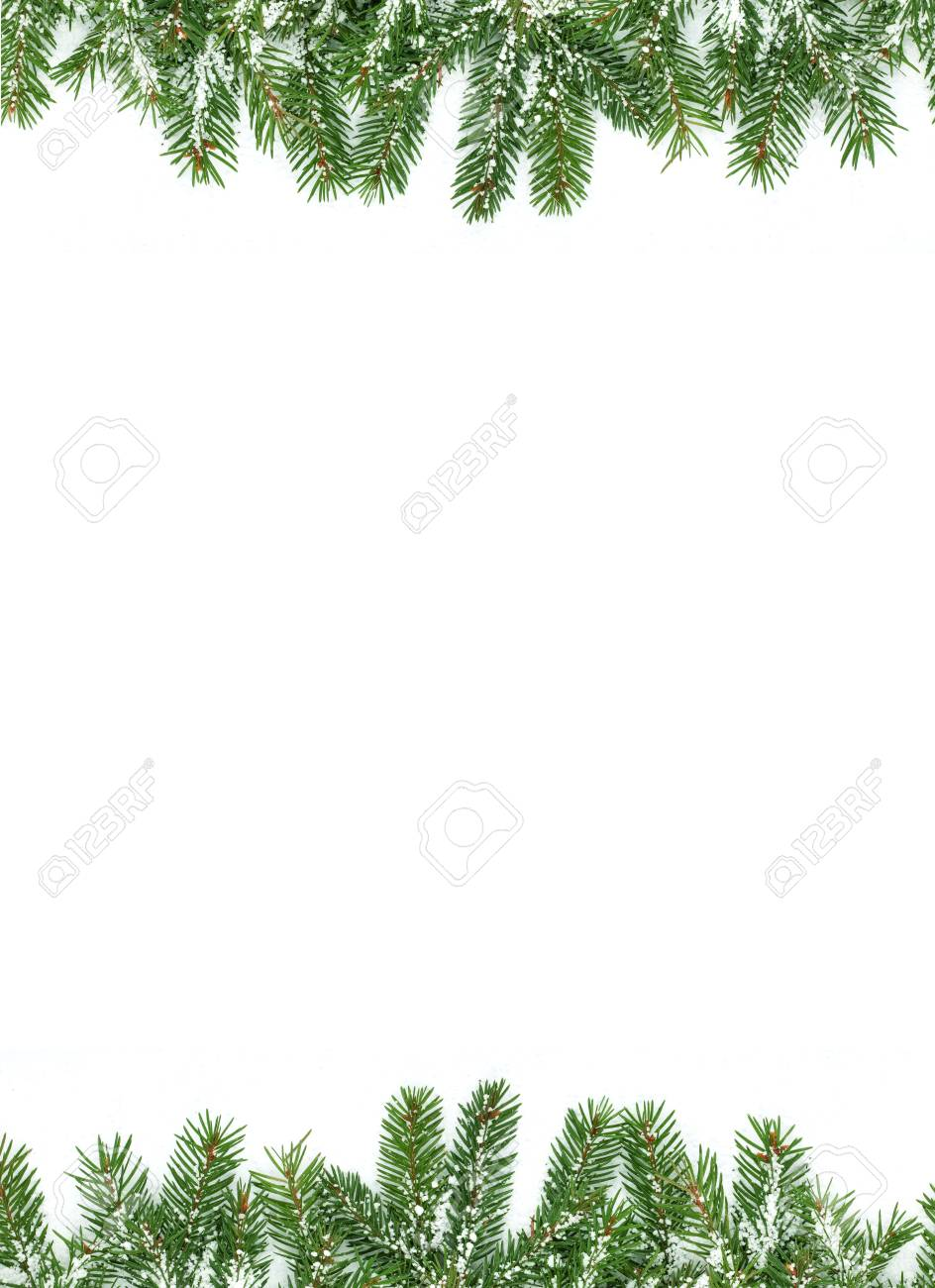 Christmas framework with snow isolated on white background Stock Photo - 11003996