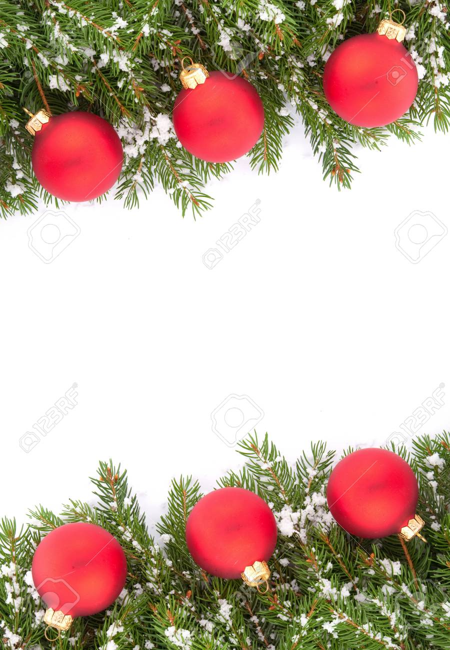 Kerst Groen Kader Geisoleerd Op Witte Achtergrond Royalty Vrije Foto