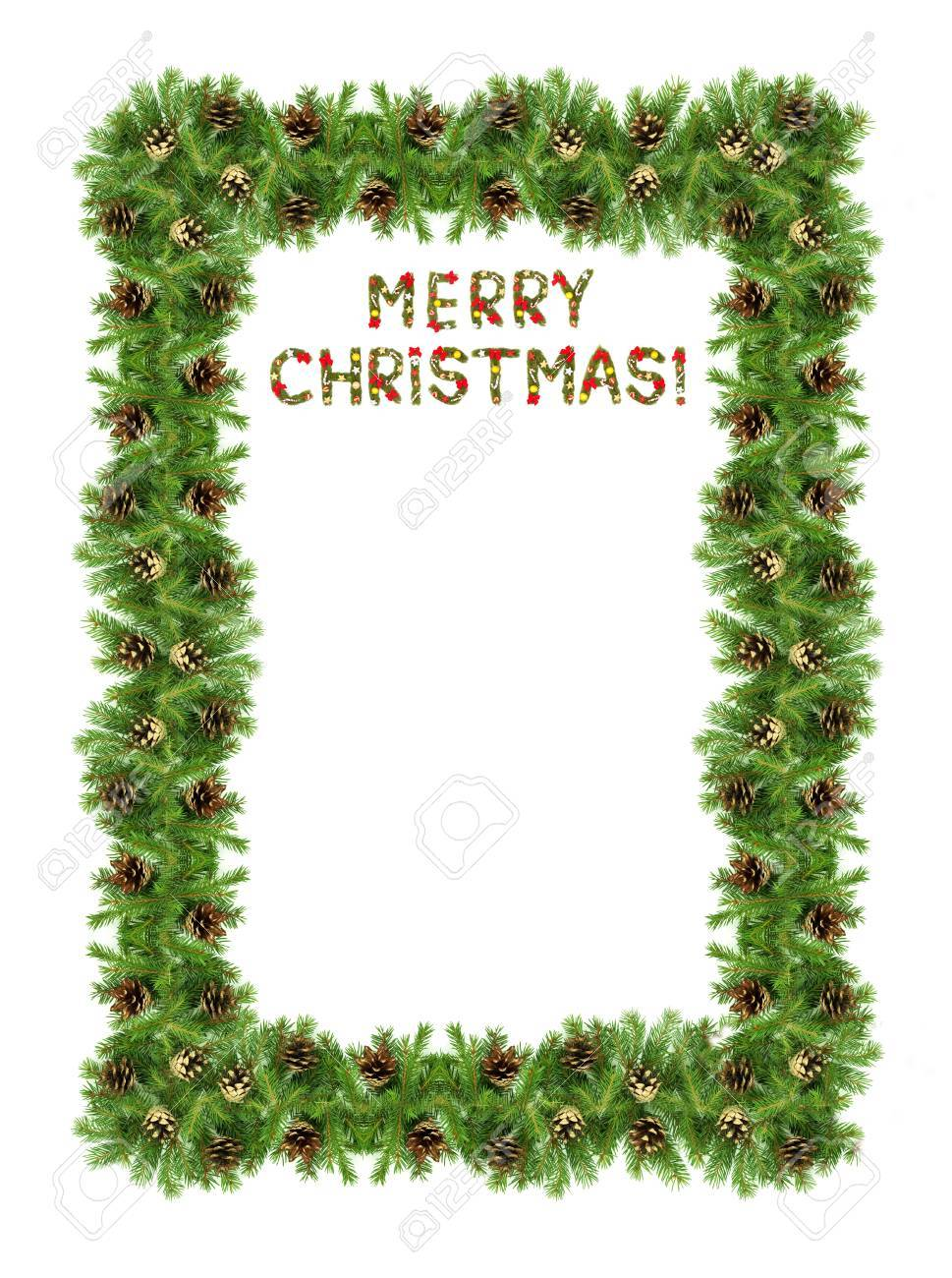 Christmas card with a christmas ornament isolated on white background Stock Photo - 12344586