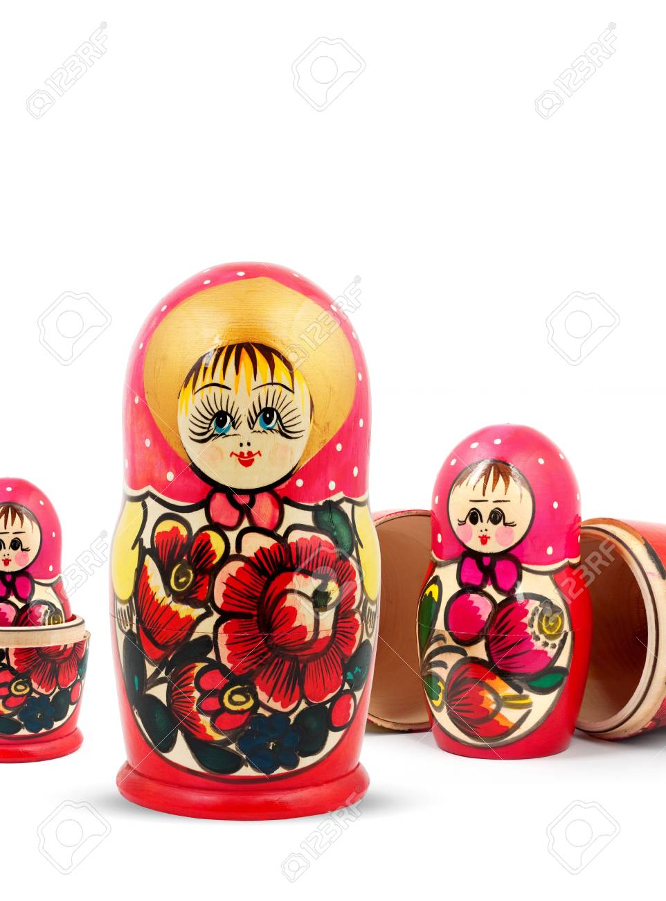 Russian Dolls. Isolated on a white background Stock Photo - 12386917