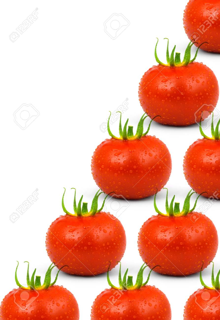 Red tomatos isolated on a white background Stock Photo - 13050428