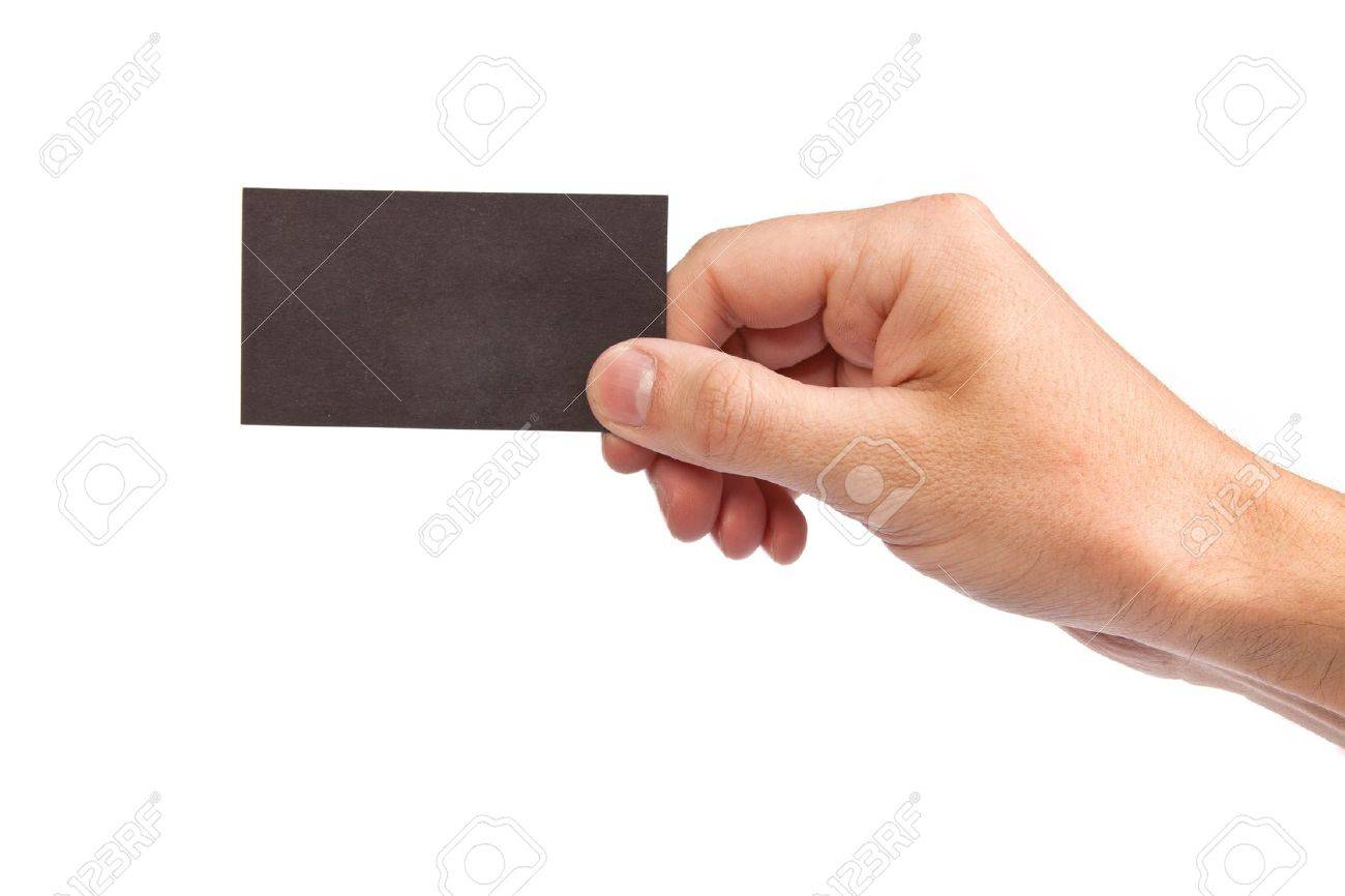 Businessman\'s Hand Holding Blank Paper Business Card, Closeup ...
