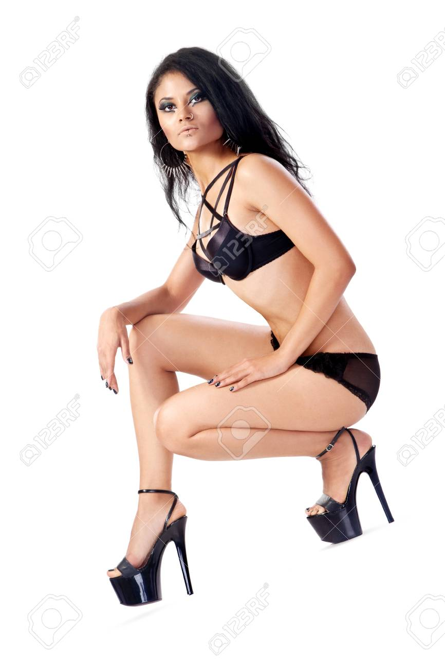 Sexy woman body. Erotic underwear isolated on a white background Stock Photo - 16037022